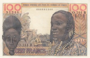 West African States, 100 Francs, 1965, UNC, p201Bf