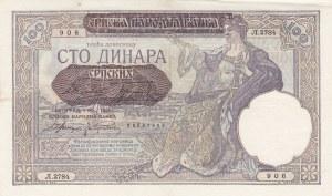 Yugoslavia, 100 Dinara, 1941, XF, p27