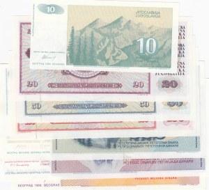 Yugoslavia, 7 Pieces UNC Banknotes