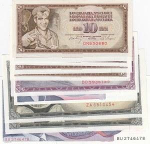 Yugoslavia, 10 Pieces UNC Banknotes