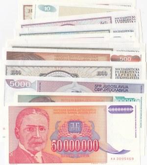 Yugoslavia, 12 Pieces UNC Banknotes