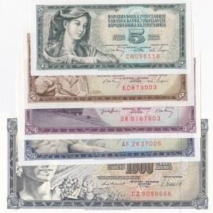 Yugoslavia, 5 Pieces UNC Banknotes