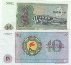 Zaire, 5 Zaires and 10 Zaires, 1977, AUNC, p21b/ p23b, (Total 2 Banknotes)