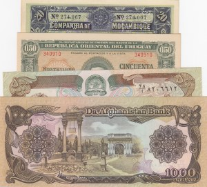 Mix Lot, 4 Pieces UNC Banknotes