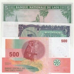 Mix Lot, 3 Pieces UNC Banknotes