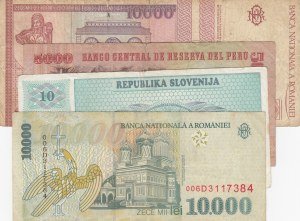 Mix Lot, 4 Pieces Banknotes
