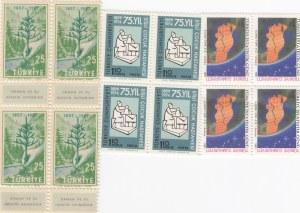 Mix Lot, Turkey in 3 block of 12, 1957/1991, UNC