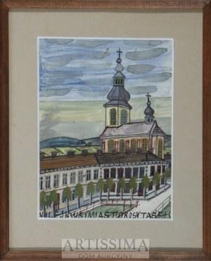 Nikifor Krynicki (1895–1968), Pejzaż z kościołem