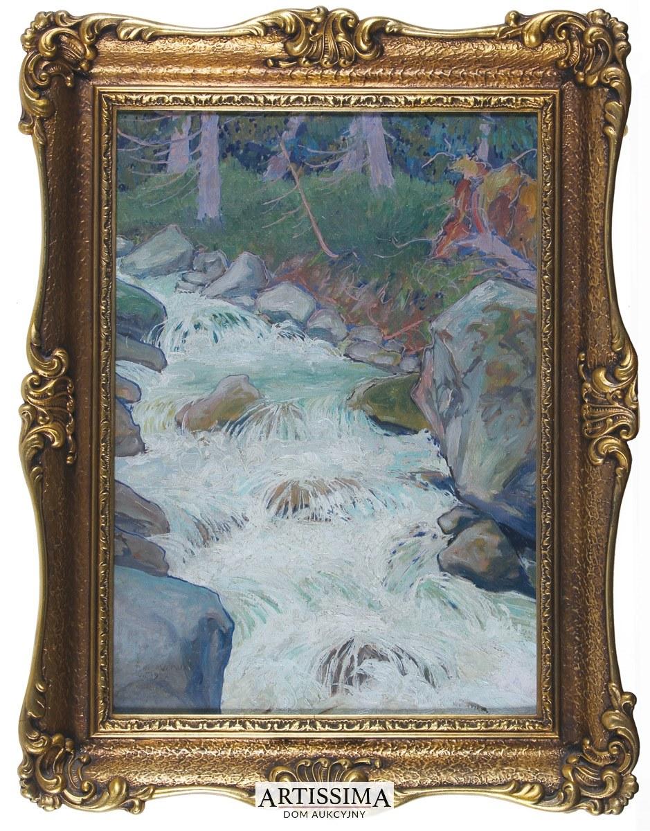 Ludwik de Laveaux (1891–1969), Strumień w górskim lesie*, 1927