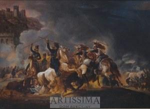 Malarz francuski, 1. tercja XIX w., Atak kozaków na napoleońskich kirasjerów