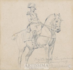 Antoni Trzeszczkowski (1902–1977), Napoleon na koniu*, 1976