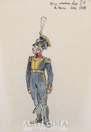 Antoni Trzeszczkowski (1902–1977), Oficer sztabowy Legii Pierwszej Księstwa Warszawskiego, rok 1808, 3 ćw. XX w.*