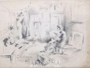 Zygmunt Badowski (1875–1959), Malarz i modelka*, 1897