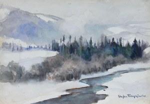 Stefan Filipkiewicz (1879 Tarnów - 1944 Mauthausen), Pejzaż zimowy