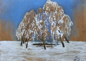 Julian Fałat (1853 Tuligłowy - 1929 Bystra), Zima w Bystrej