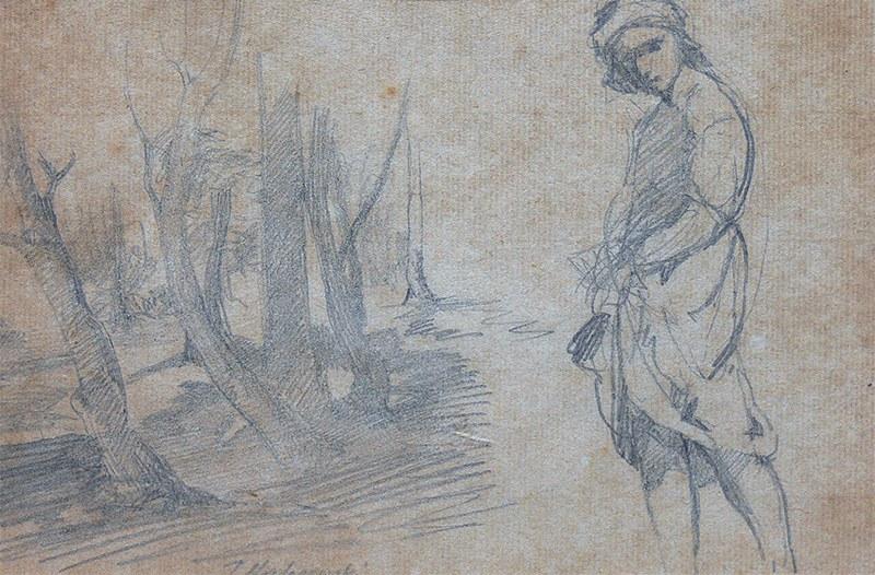 Jacek Malczewski (1854 Radom - 1929 Kraków), Szkic