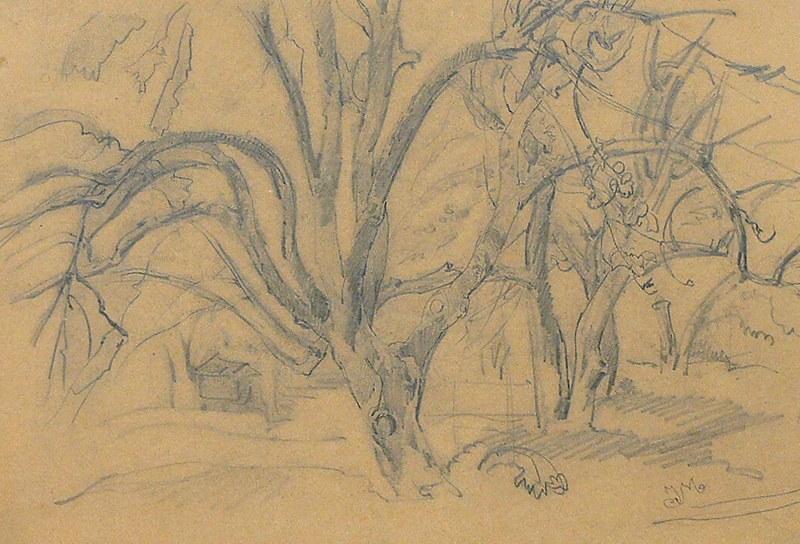 Jan Matejko (1838 Kraków – 1893 tamże), Drzewa w sadzie