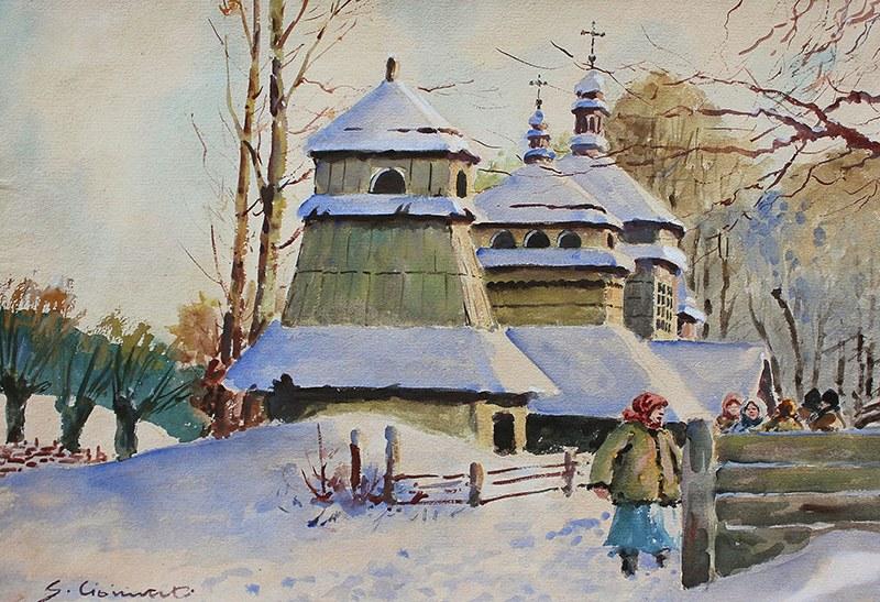 Stanisław Gibiński (1882 Rzeszów – 1971 Katowice), W drodze do kościoła