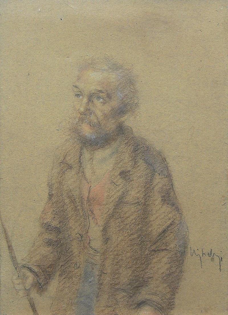 Józef Ujheli (1895-?), Portret męski