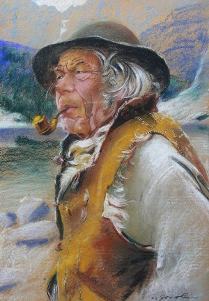 Stanisław Górski (1887 Kościan - 1955 Kraków), Góral z fajką