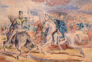 Eugeniusz Geppert (1890 Lwów - 1979 Wrocław), Atak kawalerii