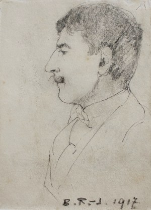 Bronisława Rychter-Janowska (1868 Kraków - 1953 tamże), Portret mężczyzny, 1917 r.
