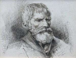 Pius Weloński (1849 Kumelany k. Suwałk-1931 Warszawa), Portret mężczyzny, 1883 r.