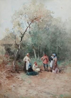 Paolo Sala (1859 Mediolan – 1924 tamże), Przy dźwiękach bałałajki