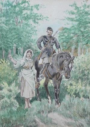 Artysta nieokreślony (Rosja, XIX/XX w.), Myśliwy z dziewczyną