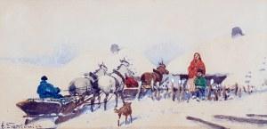 Adam Setkowicz (1876 Kraków – 1945 tamże), Wyjazd do miasta zimą