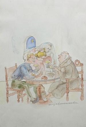 Maja Berezowska (1893 lub 1898 Baranowicze-1978 Warszawa), Przy stole