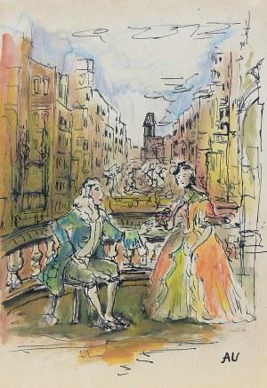 Antoni Uniechowski (1903 Wilno-1976 Warszawa), Scena rokokowa