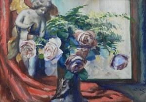 Teodor Grott (1884 Częstochowa - 1972 Kraków), Martwa natura z różami