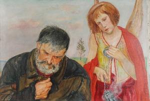 Wlastimil HOFMAN (1881-1970), Modlitwa, 1924