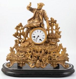 ZEGAR KOMINKOWY – WINOBRANIE, Francja, Paryż, Samuel Marti, k. XIX w.