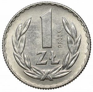 PRL, 1 złoty 1957 Próba Nikiel