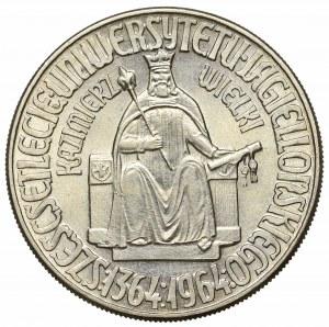 PRL, 10 złotych 1964 Kazimierz Wielki - Próba Miedzionikiel bez napisu