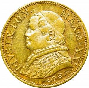 Watykan, Pius IX, 5 lirów, 1866