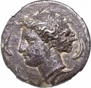Grecja, Sycylia, Dekadracham, Syrakuzy - Rzadkość NGC Ch XF