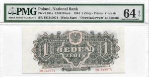 PRL, 1 złoty 1944 ..owym EO - PMG 64 EPQ