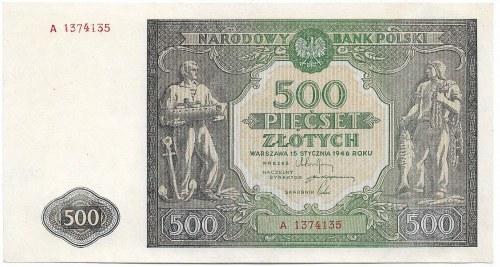 PRL, 500 złotych 1946 A