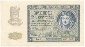 GG, 5 złotych 1940 Ser. B