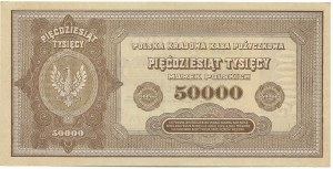 II RP, 50000 marek polskich 1922 Ser. I