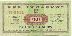 PRL, Pewex Bon Towarowy, 10 dolarów 1969 FF