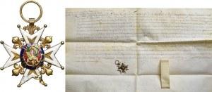 Francja, Krzyż Kawalerski orderu świętego Ludwika - nadanie królewskie 1709 rok