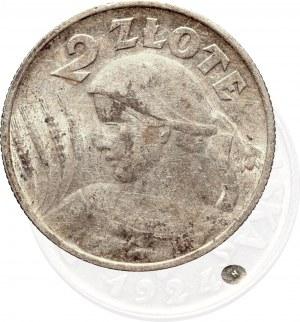 II Rzeczpospolita, 2 złote 1924, Birmingham (Lit H) Kobieta i kłosy