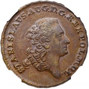 Stanislaus Augustus, 3 groschen 1766 - NGC MS63 BN