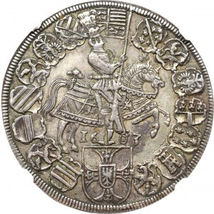 Teutonic Orden, Maximilian I, Thaler 1603 - NGC AU55