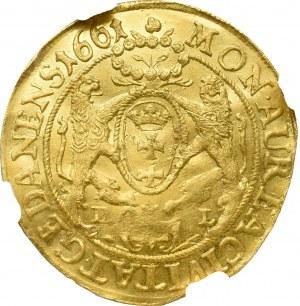 John II Casimir, Ducat 1661, Danizg - NGC UNC Details