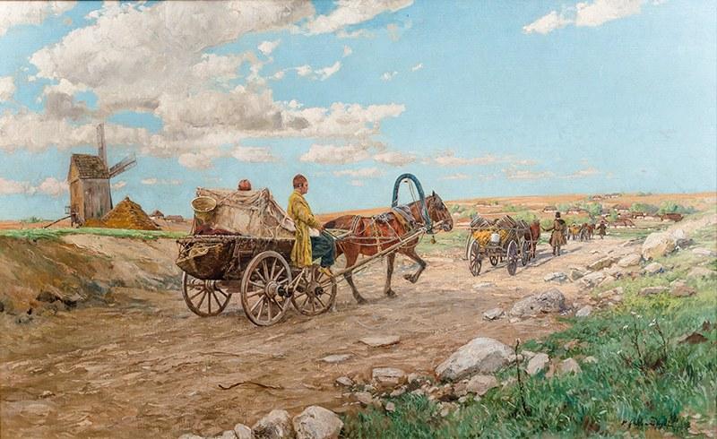 Michał Gorstkin Wywiórski (1861 Warszawa - 1926 Berlin), Na drodze